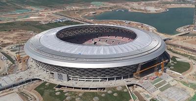 汇丽【U型实心板系统】再一次应用于国内重点公共建筑项目《咸阳奥体中心体育场》
