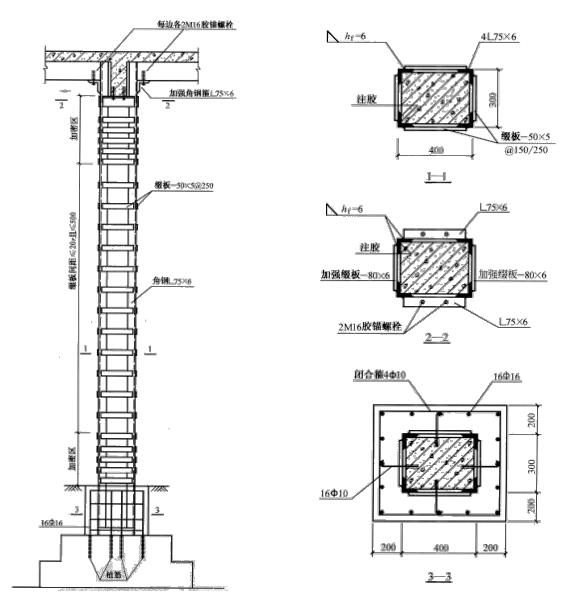 外包型钢加固法