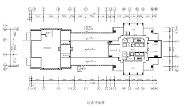裙房结构平面图