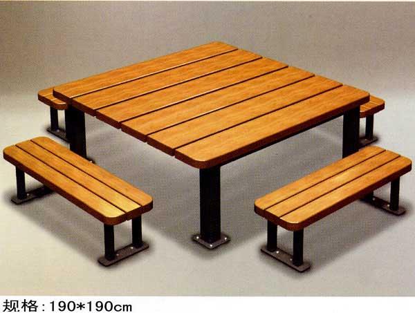 木质组合桌椅04