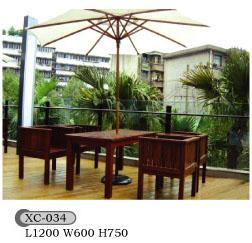 防腐木组合桌椅