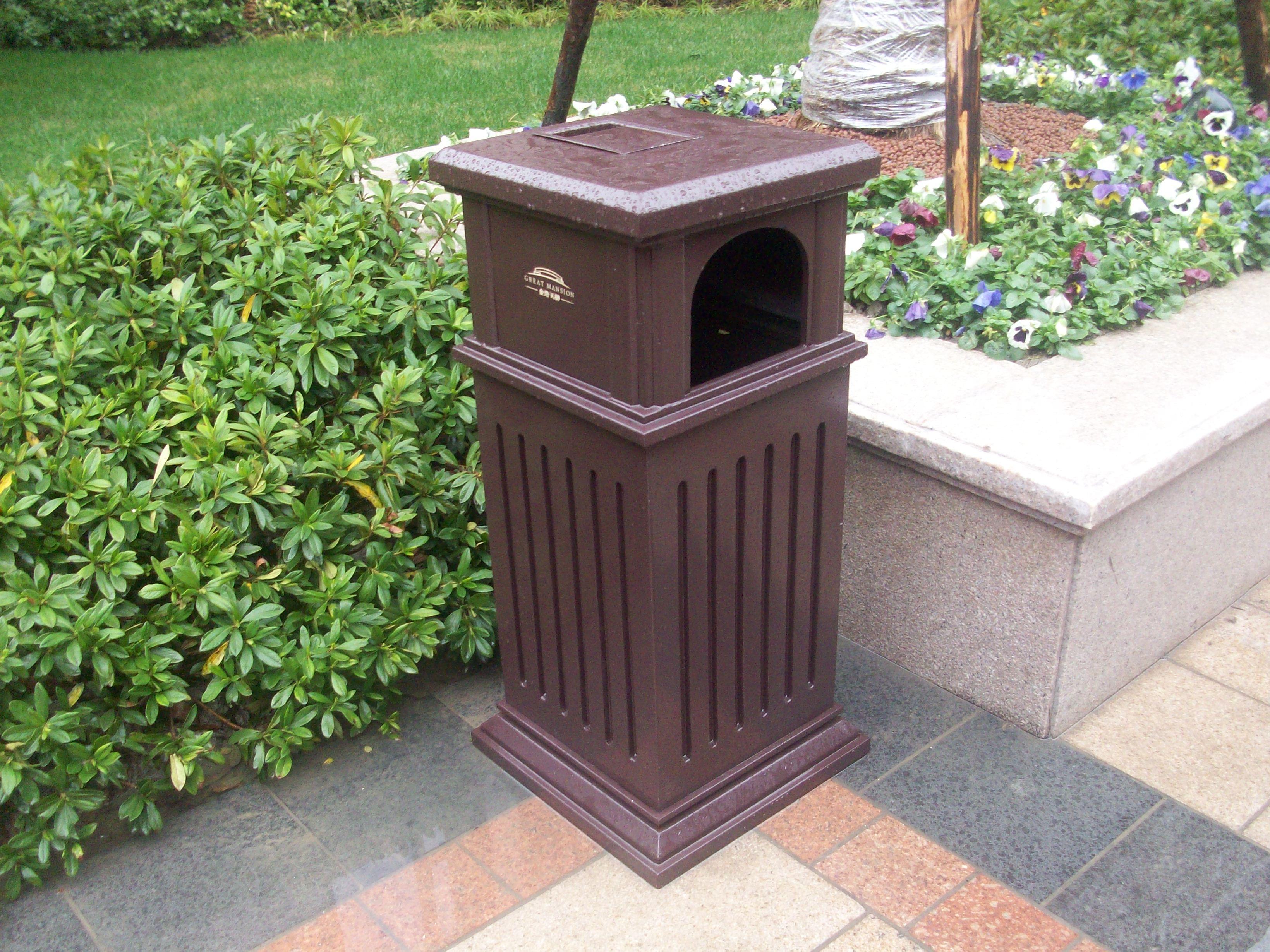 单桶垃圾桶xb1-078_上海旭雯景观休闲设备有限公司