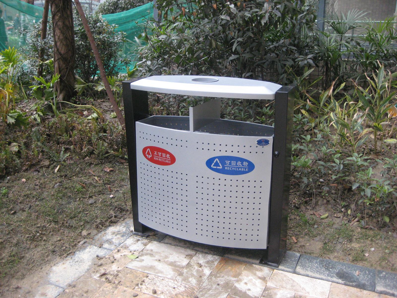 双桶钢结构垃圾桶XB2-001