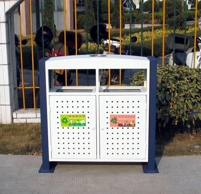双桶钢结构垃圾桶XB2-002