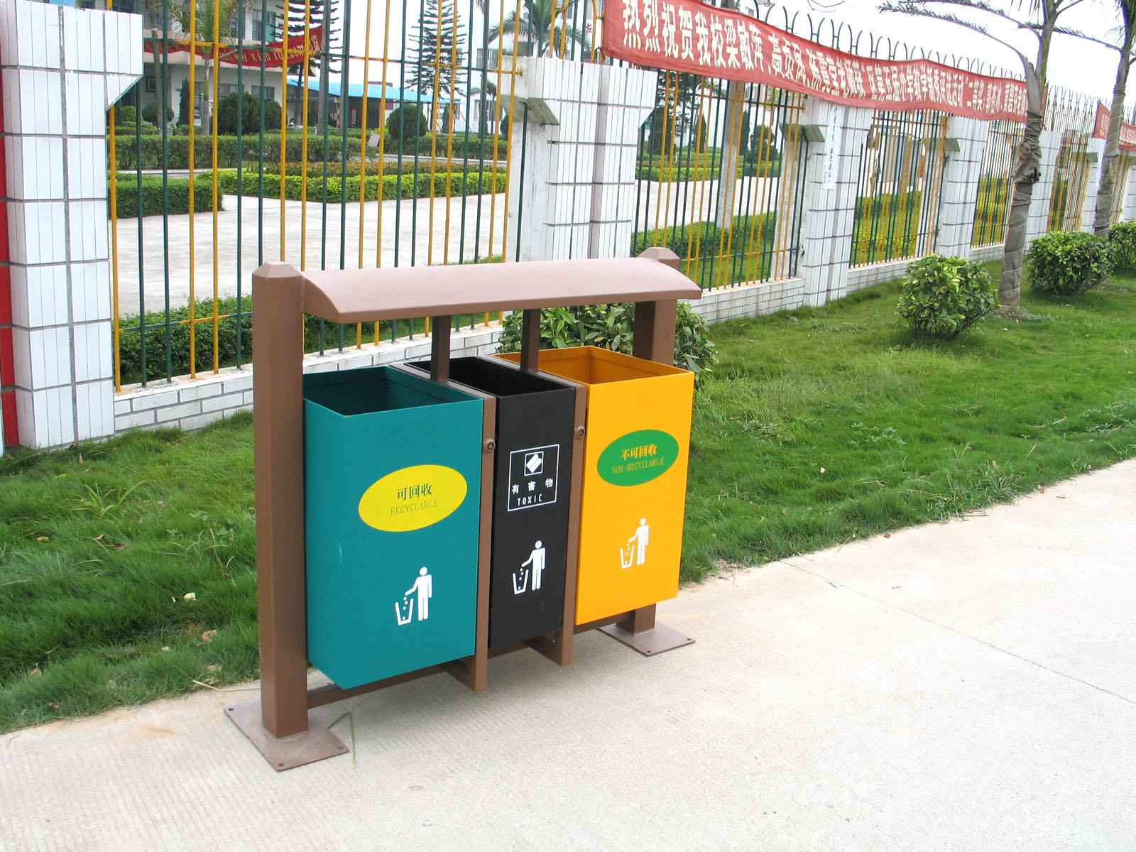双桶钢结构垃圾桶XB2-009
