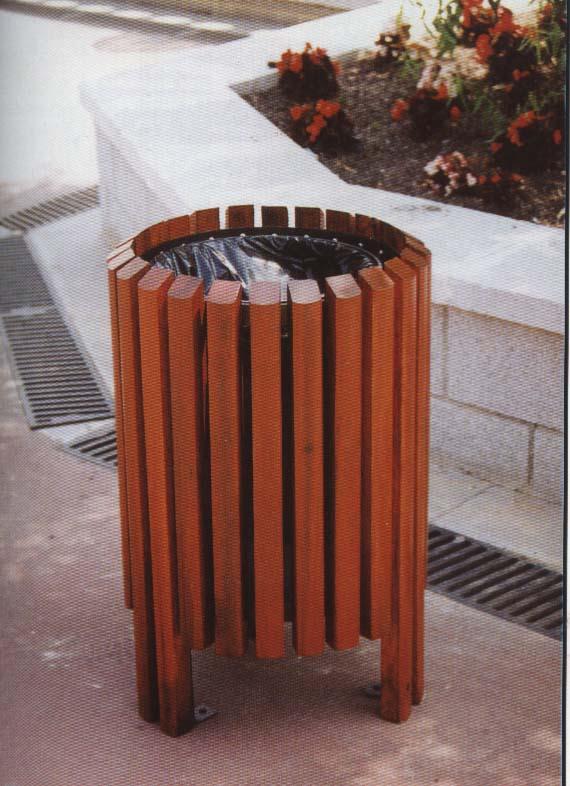 钢木垃圾桶单桶XB3-010