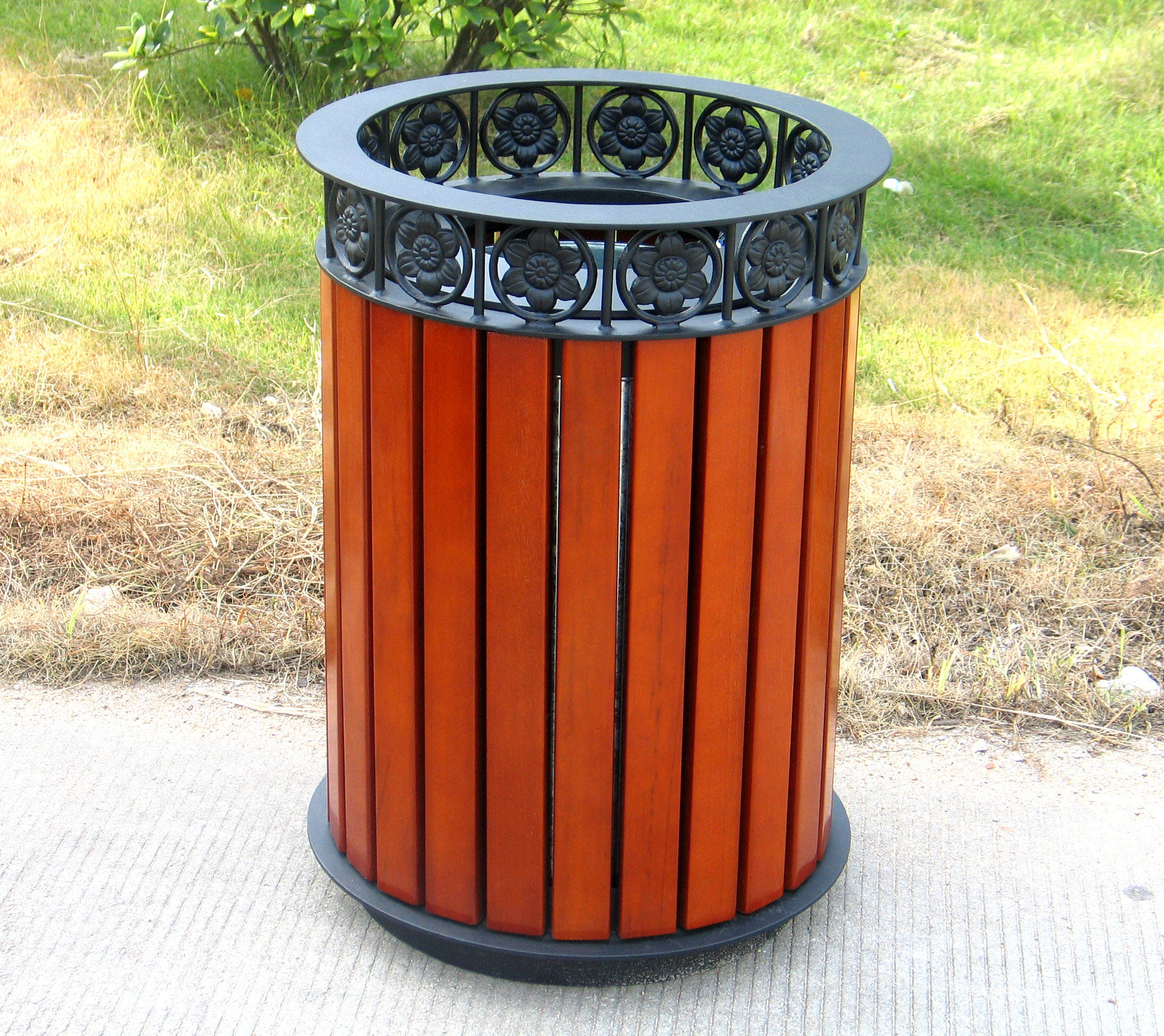 钢木垃圾桶单桶XB3-018