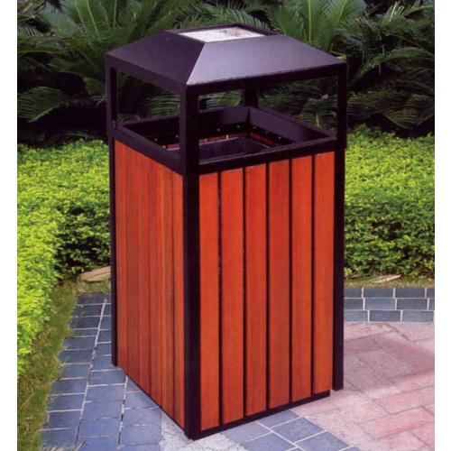 钢木垃圾桶单桶XB3-006