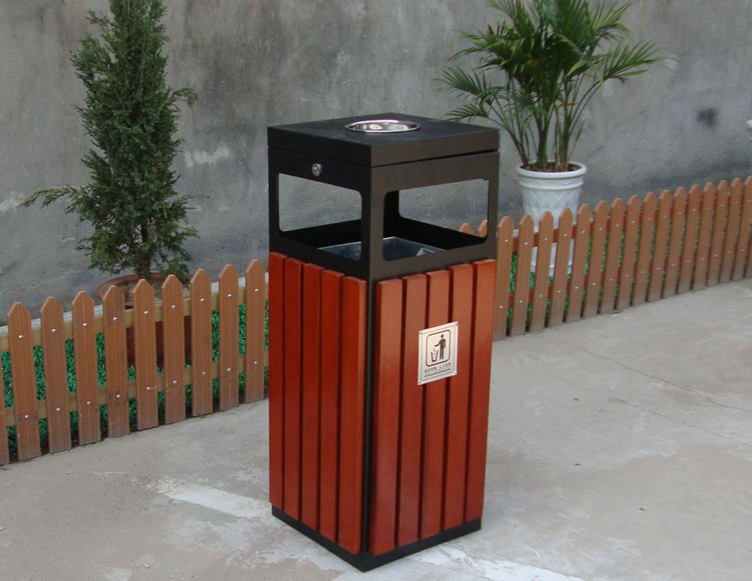 钢木垃圾桶单桶XB3-035