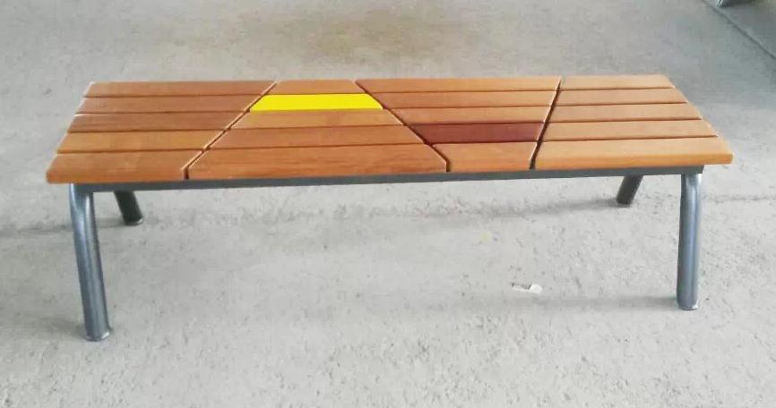 拼接钢木结构座椅