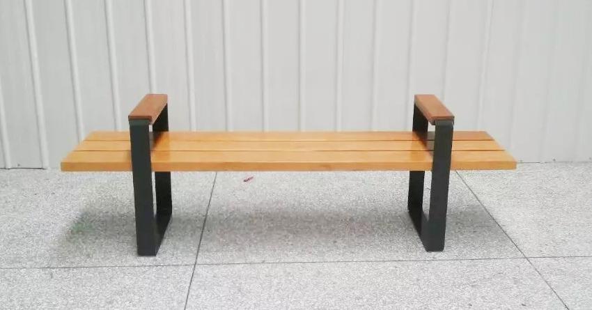 无靠背钢木座椅