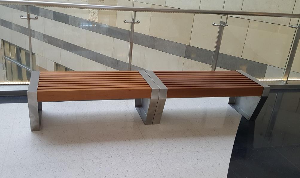 新款钢木结构座椅