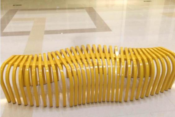 异形钢木结构座椅