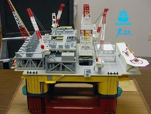 海上工作平台模型