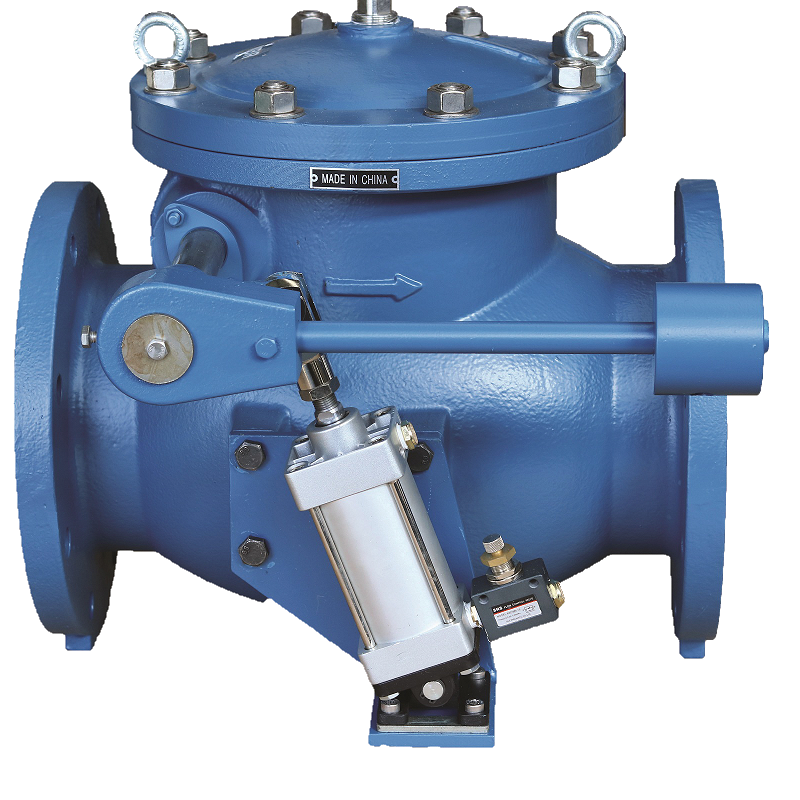CI SWING CHECK VALVE WITH DAMPER