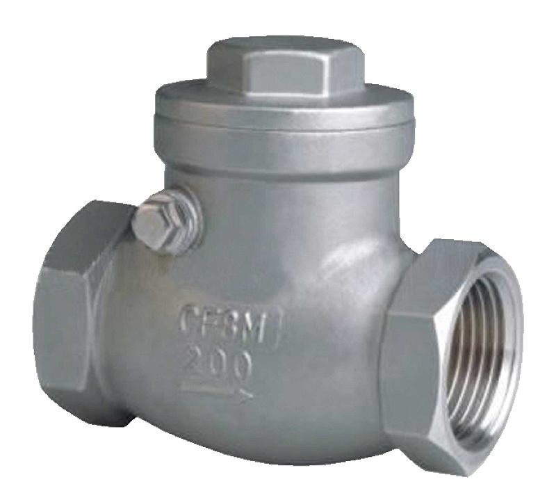 Threaded end,SS body swing check valve