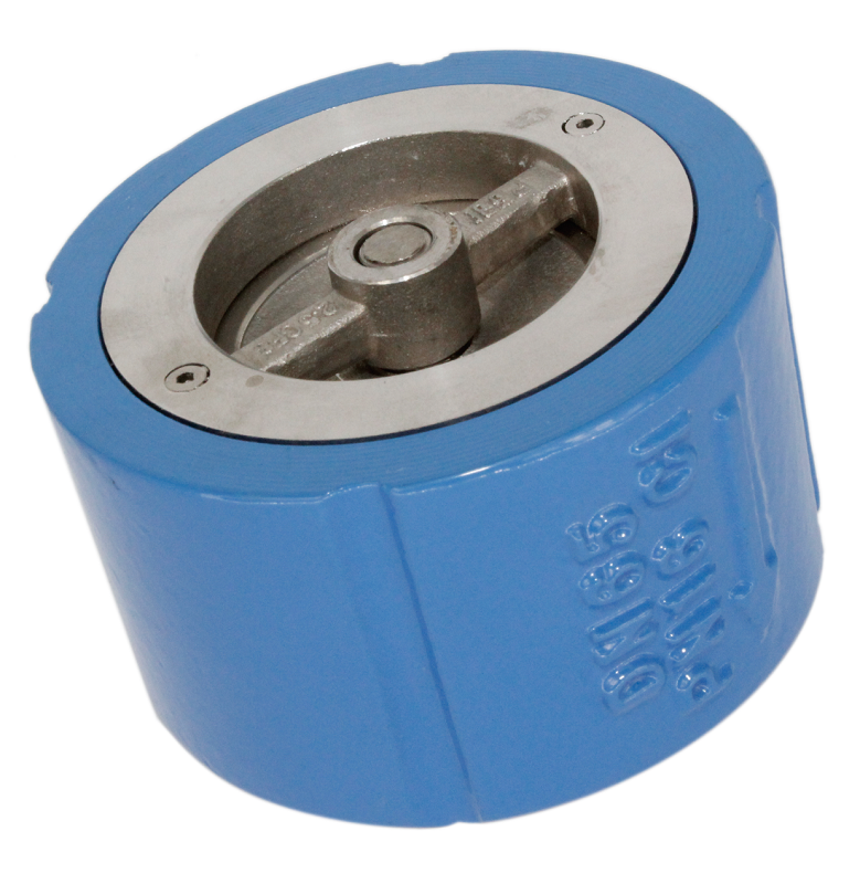 Iron body wafer silent check valve