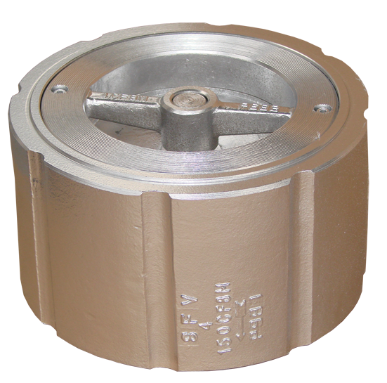 SS body wafer silent check valve