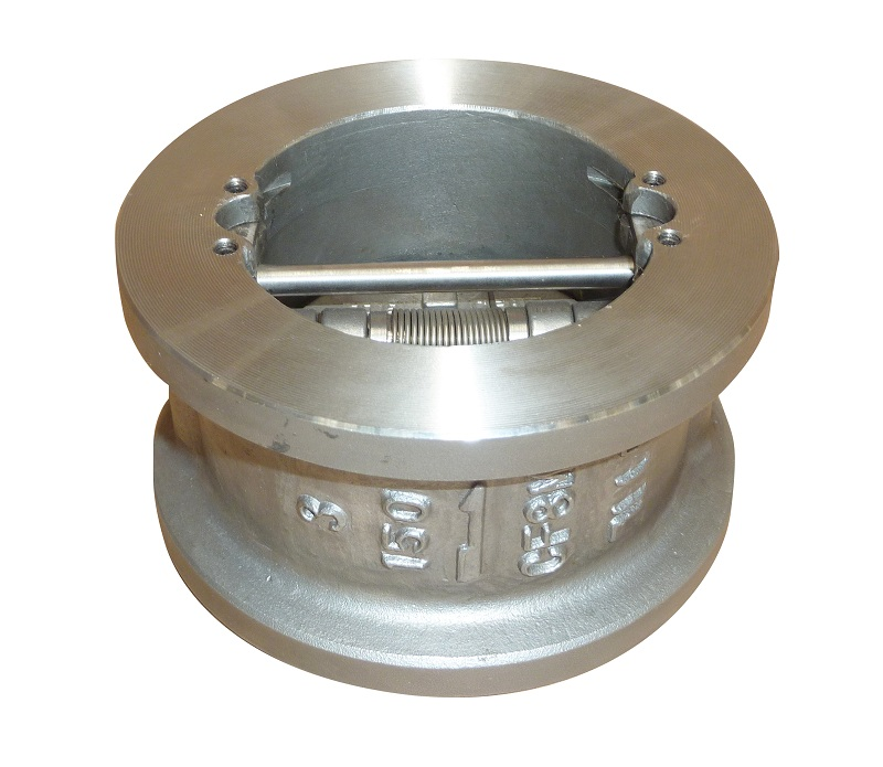 SS body wafer dual plate check valve