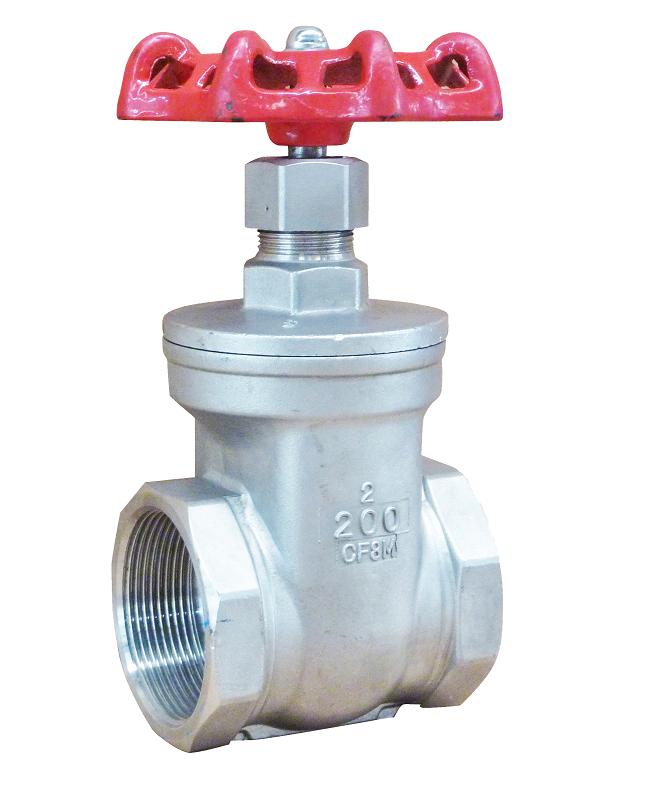 Threaded end SS body gate valve
