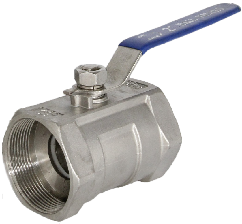 Threaded end, one piece body SS ball valve