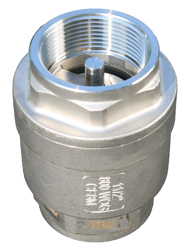 Threaded end SS body silent check valve