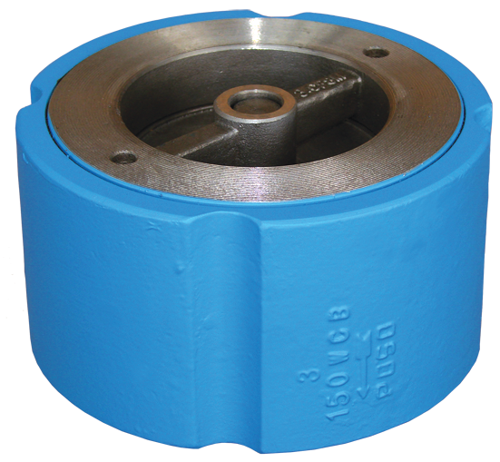 Carbon steel body wafer silent check valve