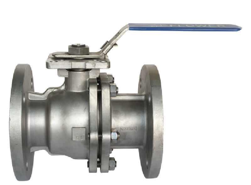 Flanged end, SS body ball valve