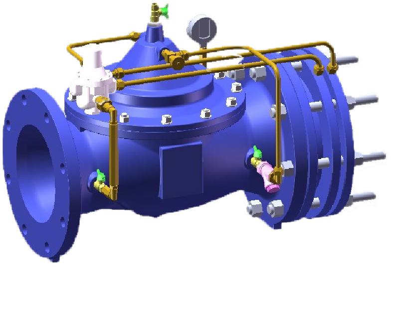 Cast Iron body flow control valve, Flange end