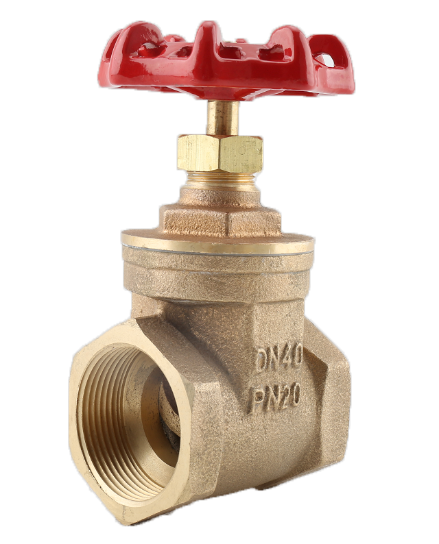 BRONZE GATE VALVE, THREADED END
