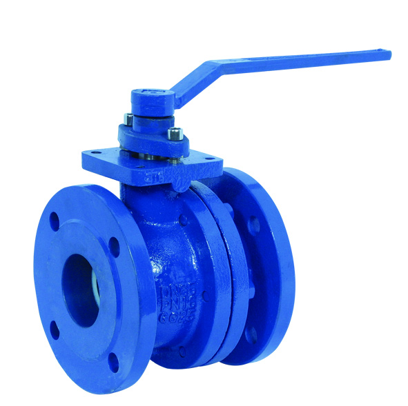 Flanged end, cast Iron body ball valve