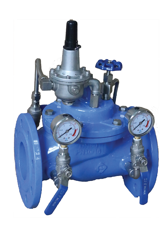 CI BODY PRESSURE REDUCING VALVE, FLANGE END