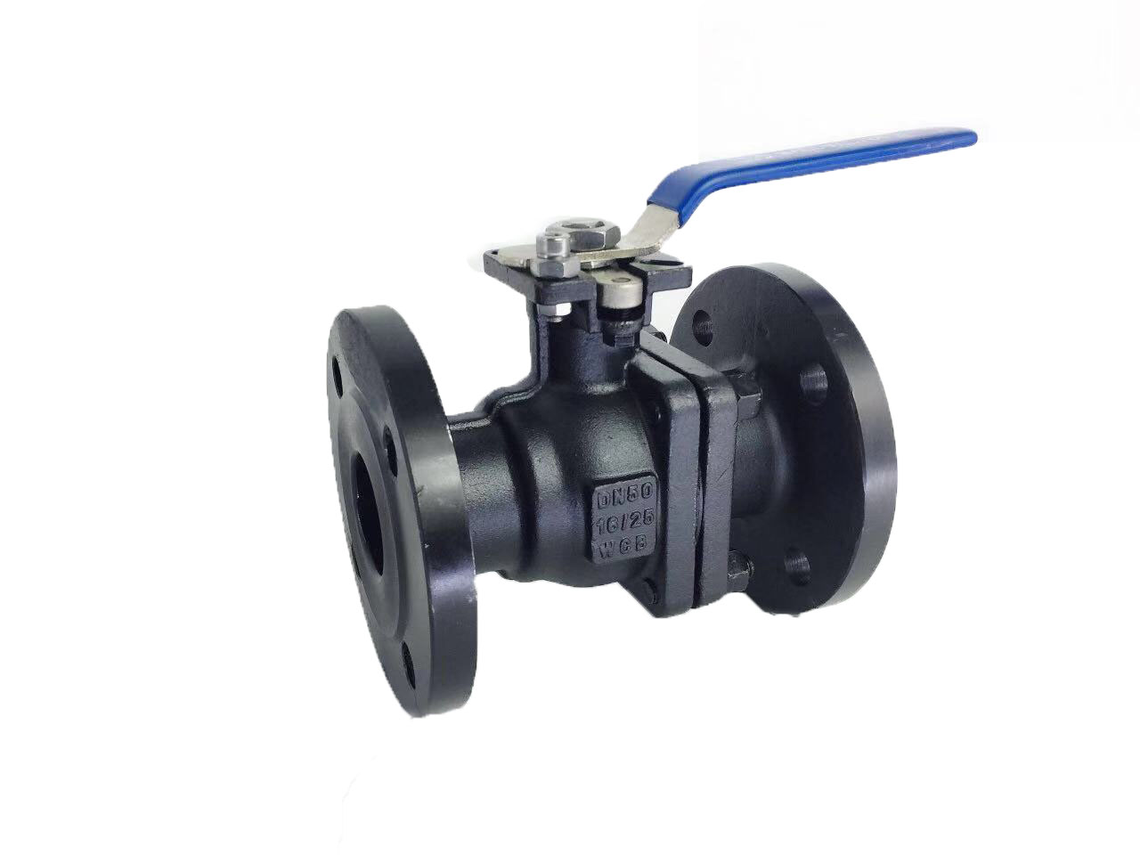 Flanged end, carbon steel body ball valve