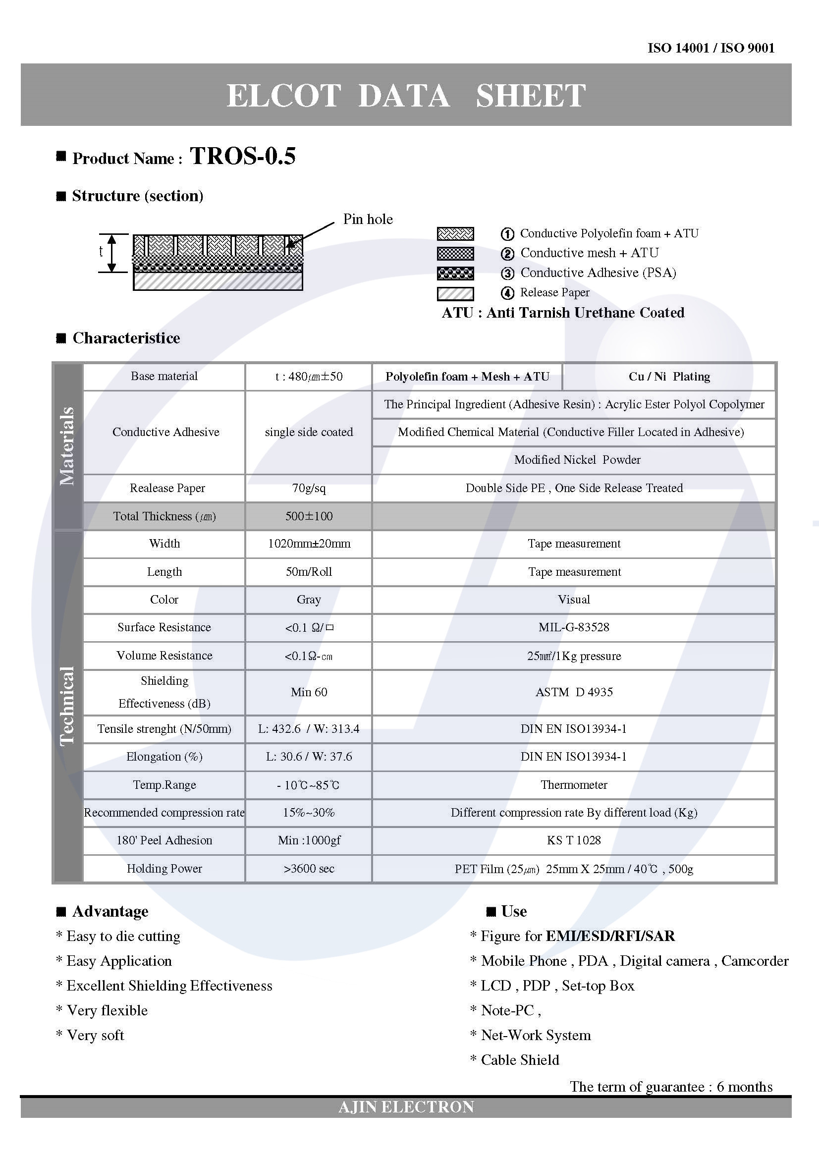 导电PE泡棉,TROS-05