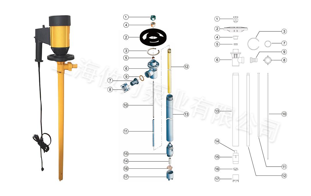 攸力抽液泵结构图