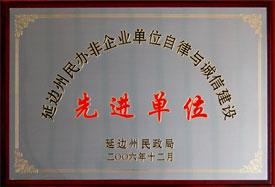 延边州民政局先进单位