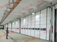 Large door opening flexible lifting door
