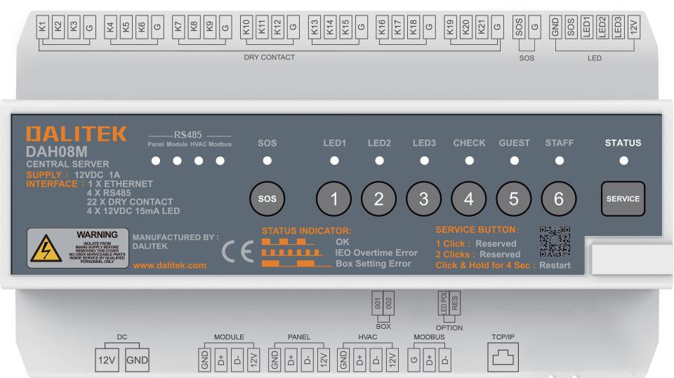 DAH08M中枢控制模块