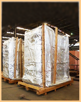 海运防水防锈真空木箱包装