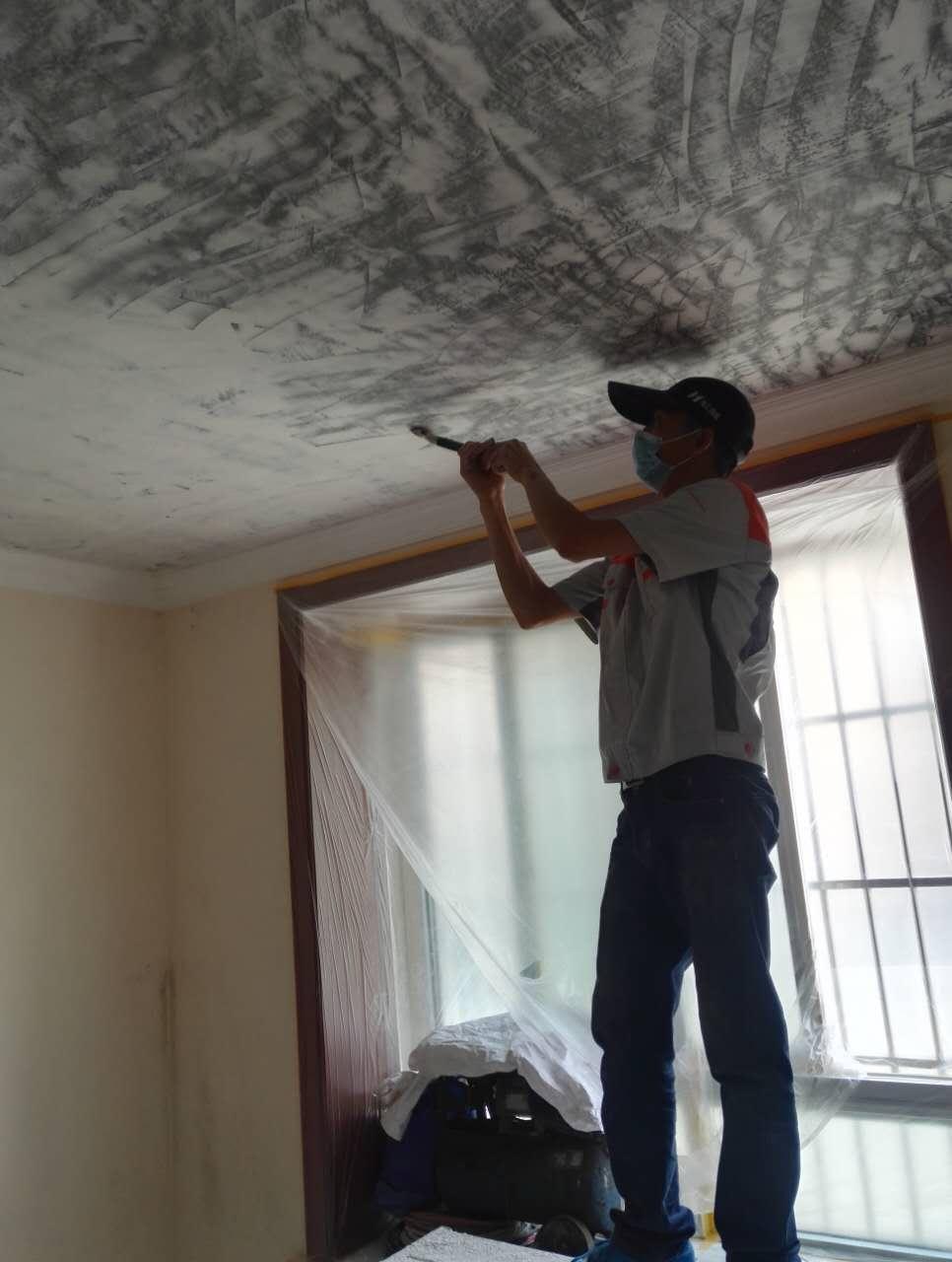 墙面刷新施工现场