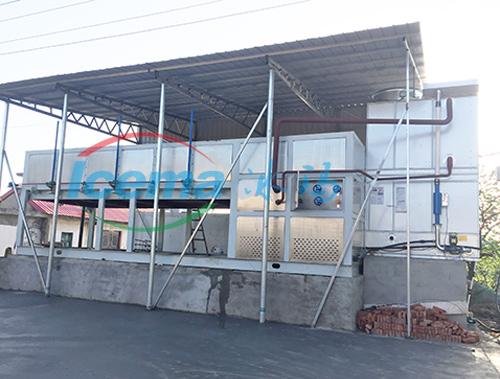 广西20吨直冷式块冰机安装现场