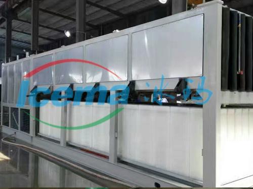 桂林日产20吨直冷式冰块制冰机安装