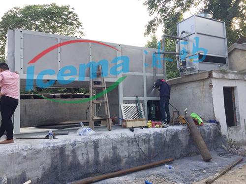 5吨直冷式块冰机滁州客户现场安装
