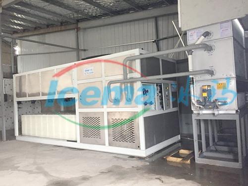 吴江9吨直冷式块冰机安装现场