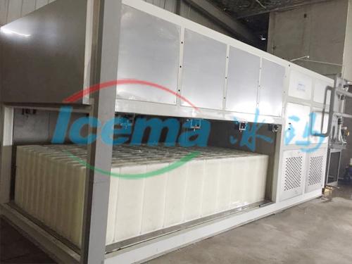 9噸直冷式塊冰機吳江安裝現場