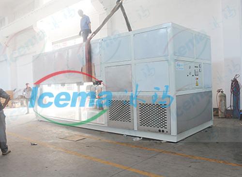 日產10噸直冷式塊冰機交付千島湖客戶