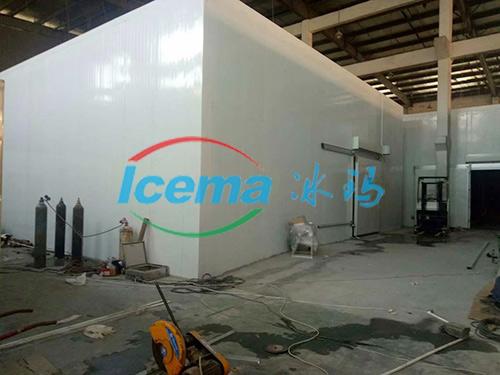 日產10噸直冷式塊冰機杭州安裝現場