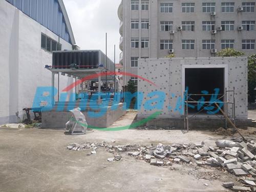 直冷式塊冰機交付南京冰工廠客戶