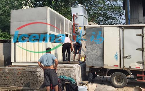 安徽5吨直冷式块冰机安装现场