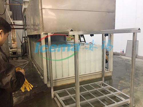 直冷式块冰机安装